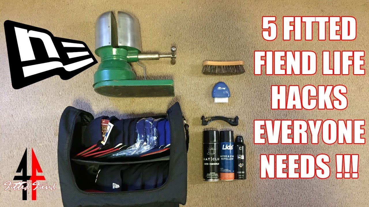 5 FITTED FIEND LIFE HACKS EVERYONE NEEDS !!! FITTED FIEND EP. 11 (NEW ERA  CAP SERIES) 7f6947e4541a