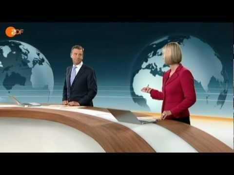 ZDF heute journal - Lustige Übergabe (04.11.2011)