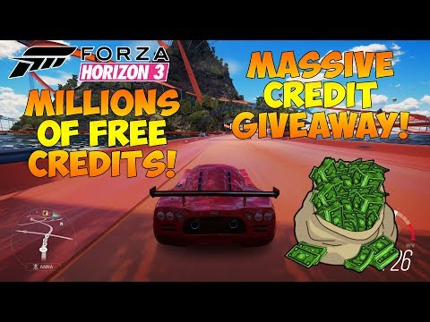 Forza Horizon 3 - CREDIT GIVEAWAY LIVESTREAM! WIN MILLIONS OF CREDITS! COME JOIN