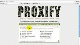 how to use proxify dot com to get access to banned website