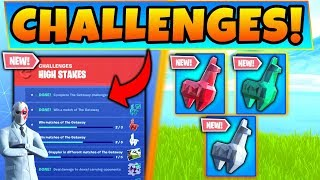 Fortnite HIGH STAKES CHALLENGES v2 GUIDE! - NOUVEAU Crystal Llama Rewards! (Mise à jour De Battle Royale)