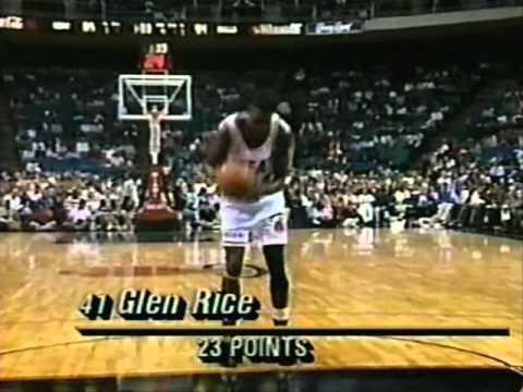 Glen Rice (33pts/5threes) vs. Bulls (1992)