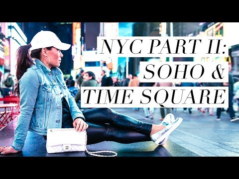 NYC Part II: Shopping in SoHo & Dinner in Time Square!!!