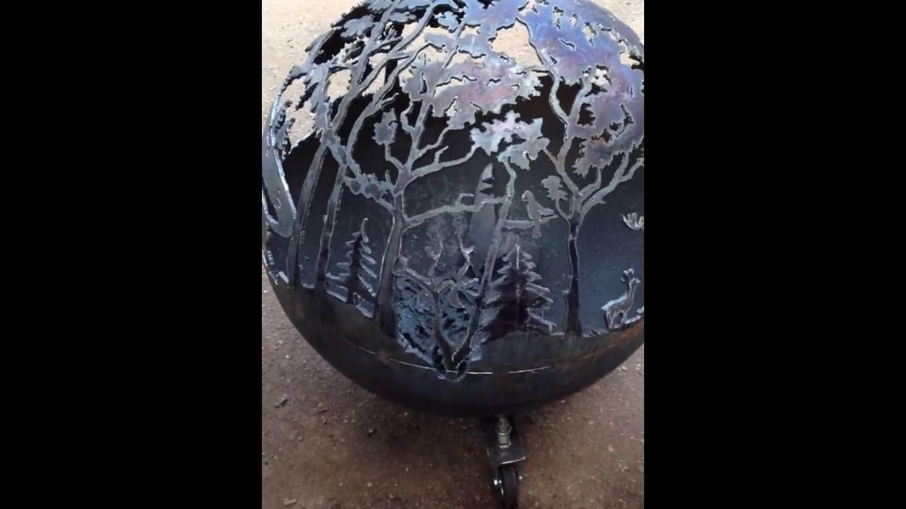 Sphere fire pit Lietuva - Sphere Fire Pit Lietuva - YouTube