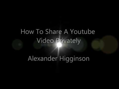 How To Share A Youtube Video Privately