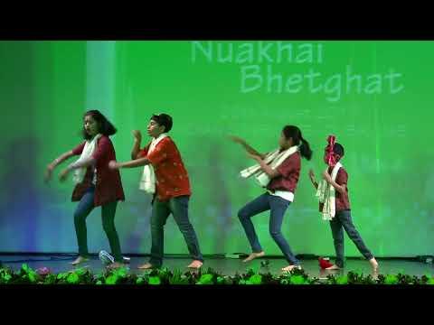 Hai Guri Tor Lachki chaali, Sambalpuri Dance by Kids. Nuakhai Bhetghat Dubai 26.08.2017