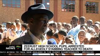 Zeerust school pupil arrested following allegedly stabbing a teacher