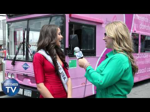 Miss USA Olivia Culpo Christens New 'Pink' Bus in NYC