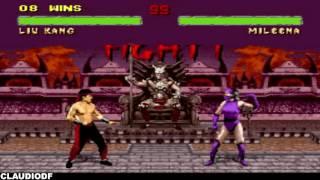 Mortal Kombat 2 - LIU KANG - Gameplay (SNES)