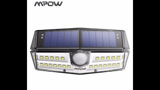 MPOW 30 LED Garden Solar Light - Best Review For You #AliExpress