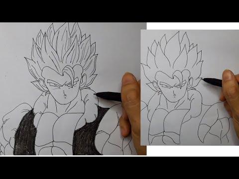 Vẽ songoku/7 viên ngọc rồng/dragon ball/Ngọc NguyễnTV/vẽ nhân vật hoạt hình.