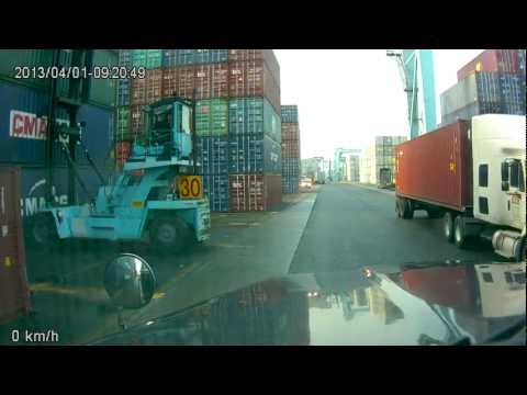 Getting a box / container ship / lift operator getting beauty sleep