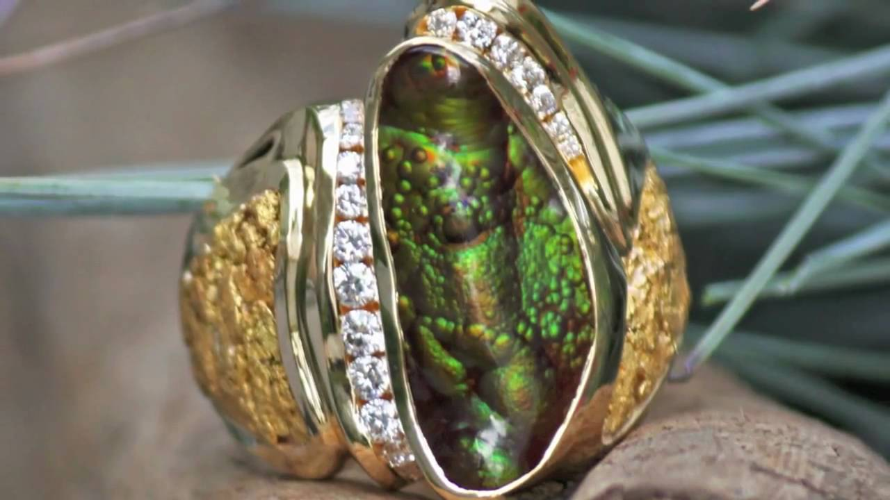 OneofaKind Alaskan Gold Nugget Jewelry YouTube