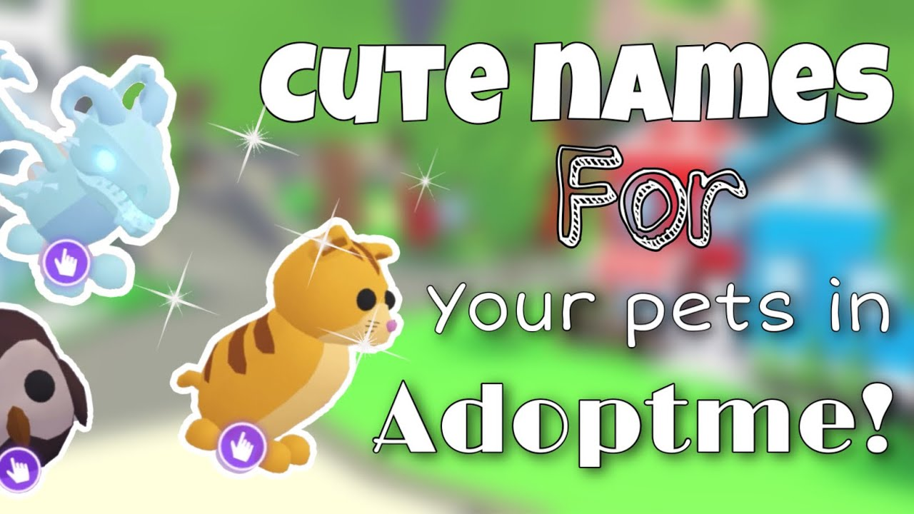 Cute Names For Your Pets In Adoptme Neptuneboba Youtube