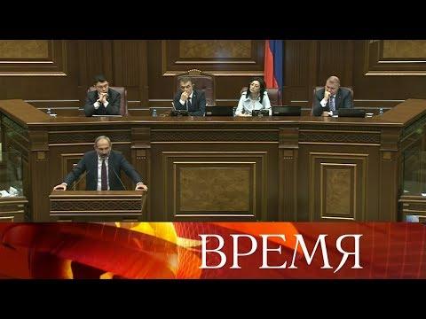 Парламент Армении не утвердил кандидатуру лидера оппозиции Никола Пашиняна на пост премьер-министра.