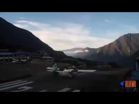 Lukla plane takeoff