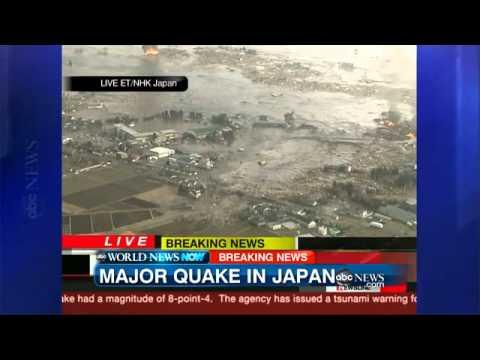 BREAKING NEWS  Violent Earthquake Hits Japan; Tsunami Damage.flv