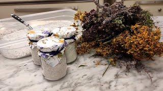 Sale aromatico della serenità con lavanda e iperico