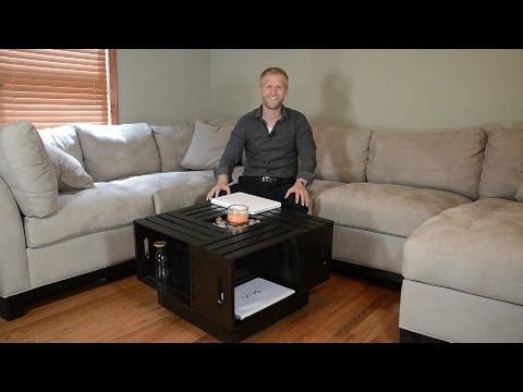Crate Coffee Table Build and Review DIY How To YouTube