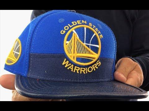 Warriors 'HORIZON STRAPBACK' Royal-Navy Hat by Pro Standard