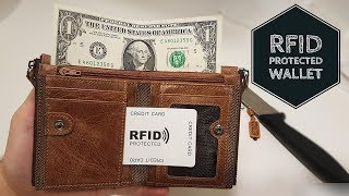 RFID Secure Wallet || Unboxing and Review Real Leather Wallet from Aliexpress