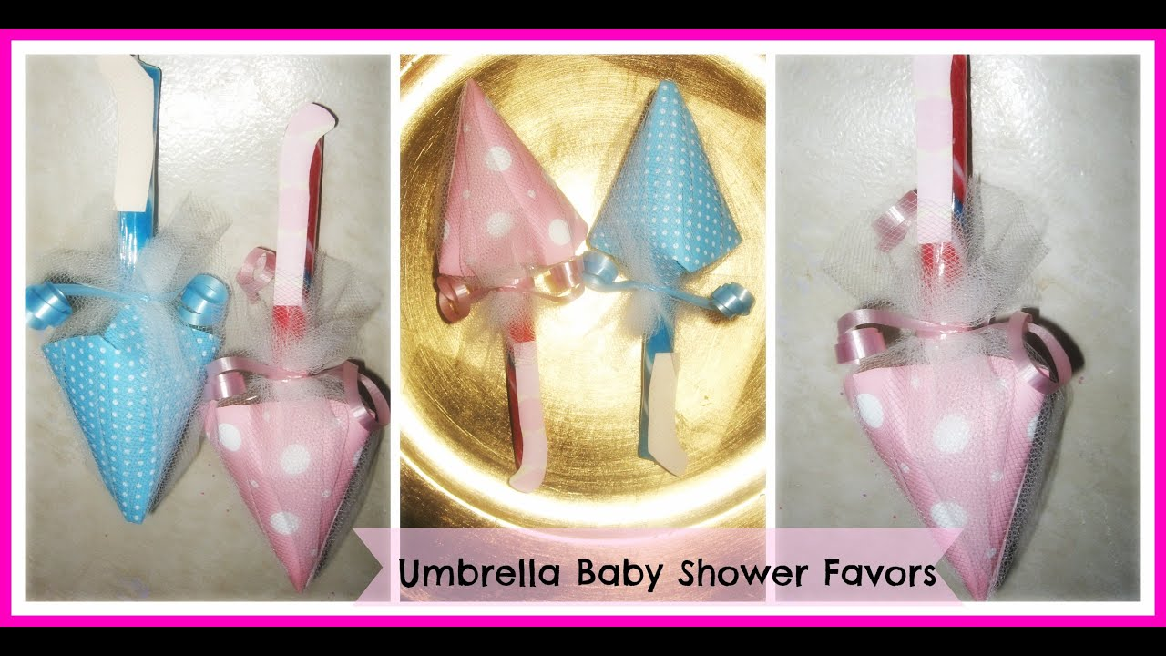 How to Make Umbrella Baby Shower Favors Tutorial DIY Candy