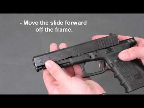 Glock 19 Pistol Take Down - Disassembly & Lubrication