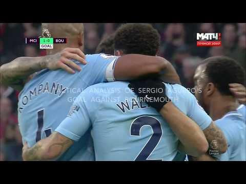 Manchester City Football Tactics : Sergio Aguero v Bournemouth