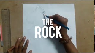 How to draw the rock  Dwayne Johnson