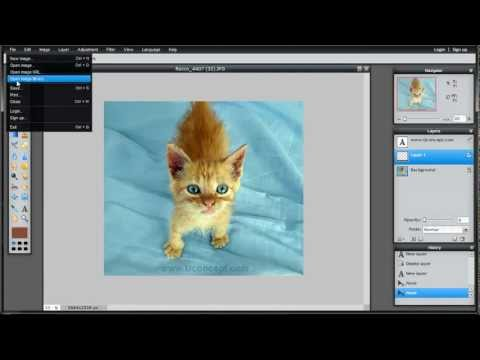 Watermarking Your Images using Pixlr Free Online Graphics Editor