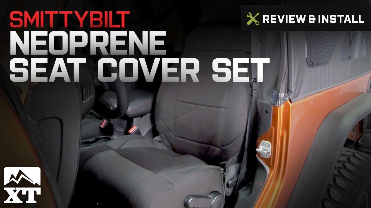 Jeep Wrangler Smittybilt Neoprene Seat Cover Set Front Rear 2007 2017 JK Review Install