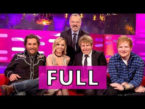 The Graham Norton Show FULL S20E15 Matthew McConaughey, Christina Ricci, Josh Widdicombe, Ed Sheeran