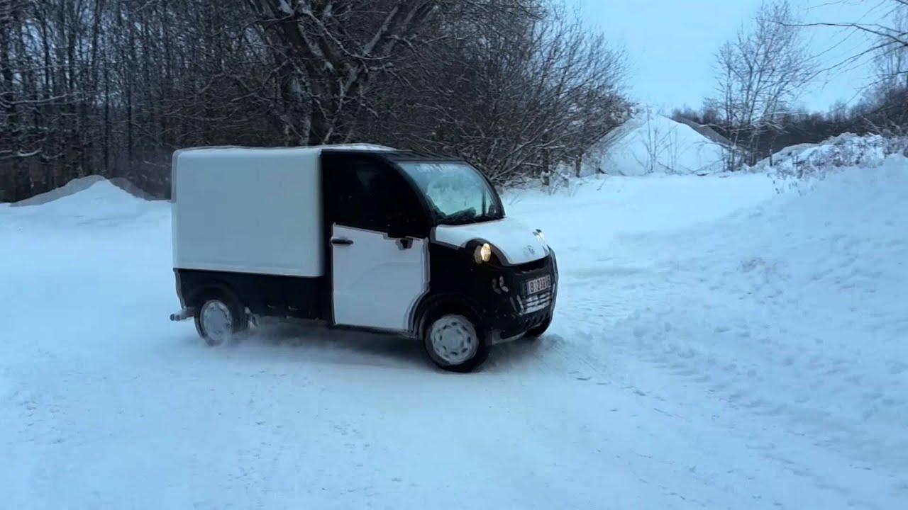aixam mega d truck 600 snow test aixammegabaltic. Black Bedroom Furniture Sets. Home Design Ideas