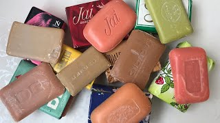 ASMR SOAP # 6 /Cutting very old soap RETRO and very dry / Резка очень старых мыл РЕТРО