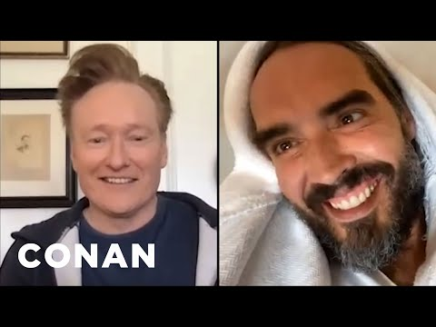 #ConanAtHome: Russell Brand Full Interview - CONAN On TBS