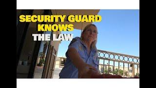 SECURITY GUARD KNOWS THE LAW!! 1ST AMENDMENT AUDIT
