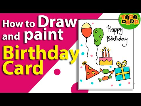 how-to-make-an-easy-birthday-card-|-birthday-greeting-card-|-kids-drawing-|-lesson-19