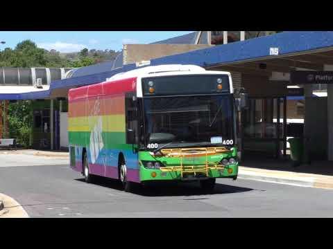 Buses At Woden Bus Station - Canberra Transport