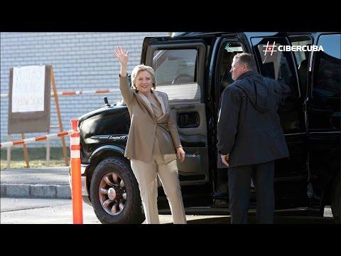 Hillary Clinton vota temprano en Chappaqua, New York
