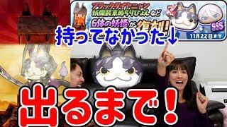 【妖怪ウォッチぷにぷに】取り忘れてたブラックダイヤニャン狙って出るまでガシャ! Yo-kai Watch