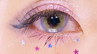 Pink Glitter makeup by Marin Matsuzaki|ネイルとお揃い!ピンクグリッターメイク by モデル,ネイリスト松崎茉鈴