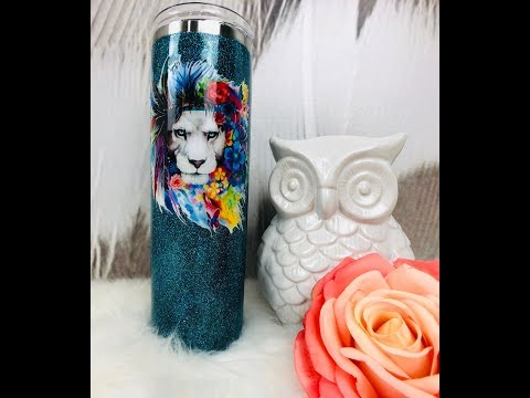 2019 NEW How to Apply epoxy and Glitter a Tumbler Using the HANG METHOD