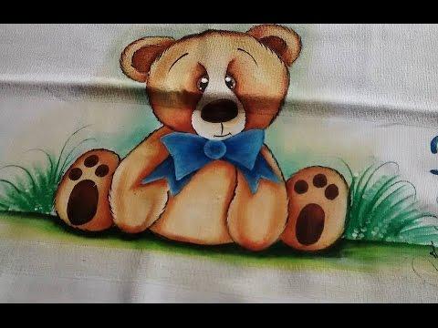 Pintando Urso Em Fraldas Com Artes Da Ju Baby Aulas Gratis