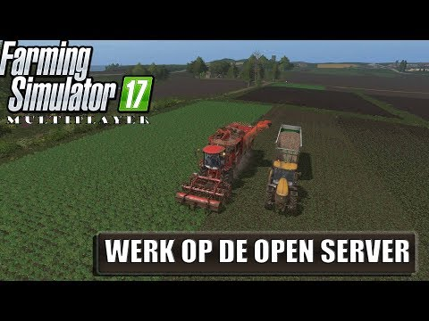 """WERKEN OP DE OPEN SERVER!"" FarmingSimulator 17 Multiplayer Baltic Sea"