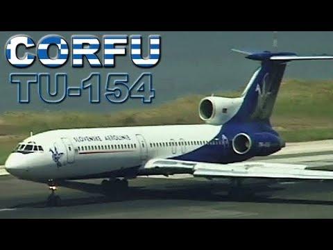 TUPOLEV 154 landing at Corfu Airport (2001)