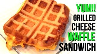 Waffle Grilled Cheese Sandwich - How To Make At Home, 5 Minute Recipe - Inspire To Cook