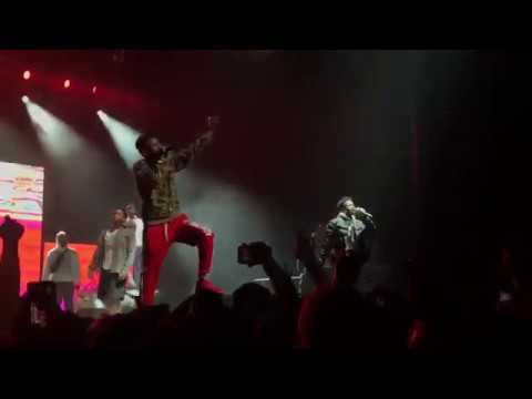 "Smooky MarGielaa performing ""stay 100"" with asap Mob during cozy tour!"