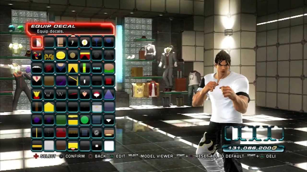 Tekken tag tournament 2 decal customization jin tekken 4 white black gi youtube