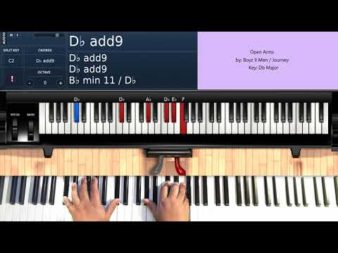 Open Arms (by Journey/Boyz II Men) - Piano Tutorial