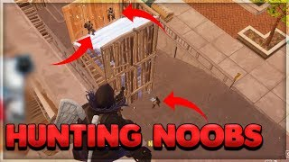 Hunting Noobs - Highlights & Solo Win FORTNITE Battle Royal Gameplay